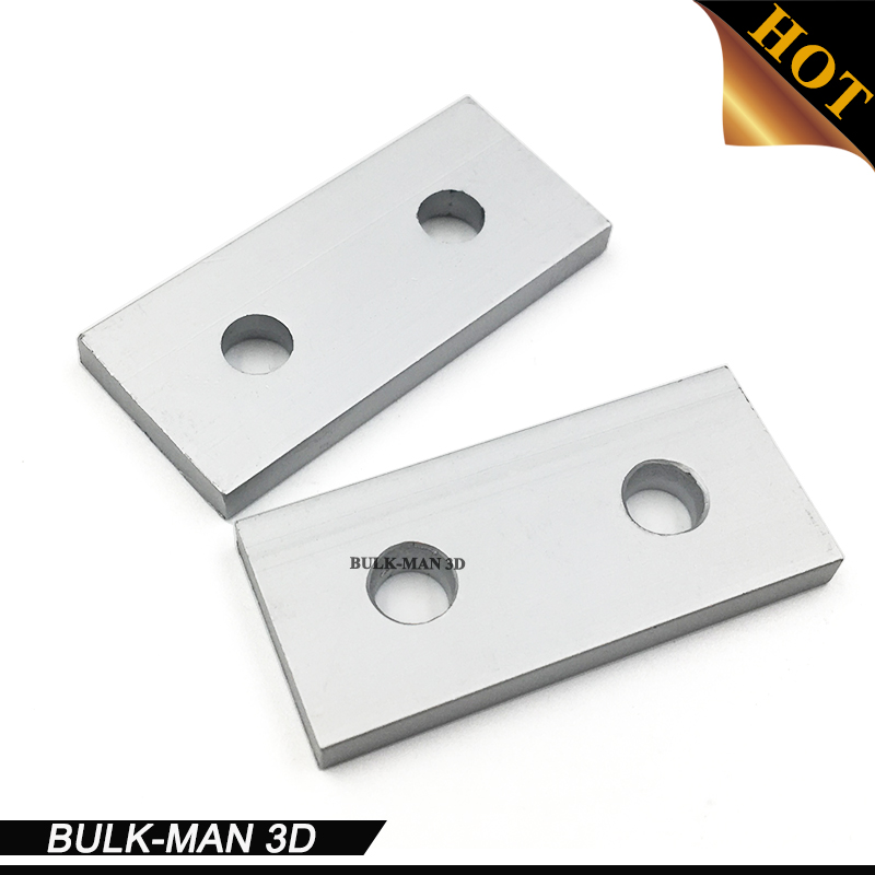 2 Hole End plate Joining Bracket V-slot 2040 Aluminium Extrusion CNC Router 3D