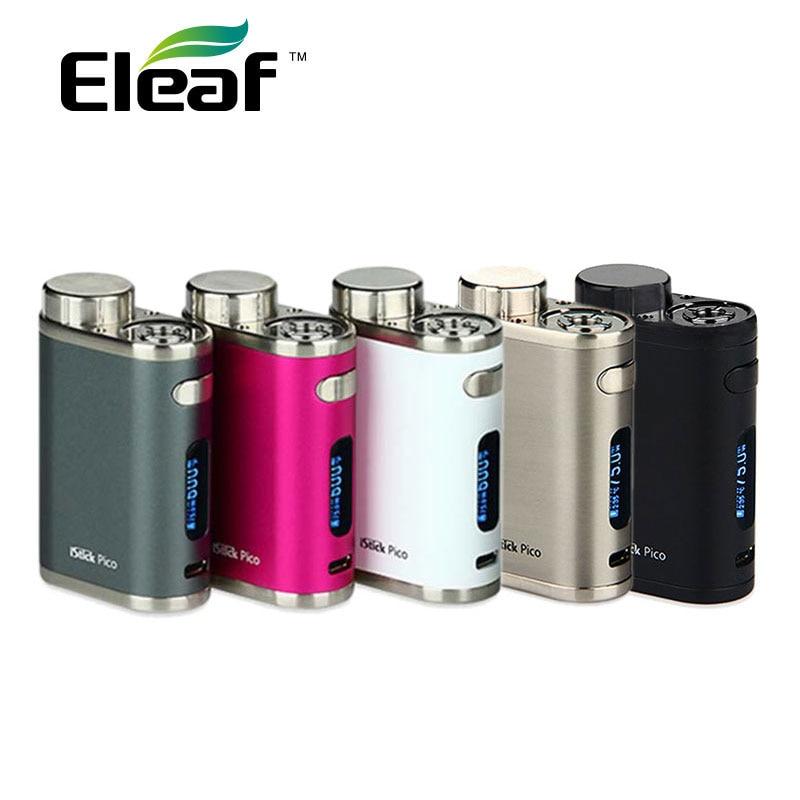 Qualidade Premium TC de Pico de 75 W Eleaf iStick MOD Vape E-cigarro Mod em Várias Cores Sem 18650 Bateria pico istick 75 W