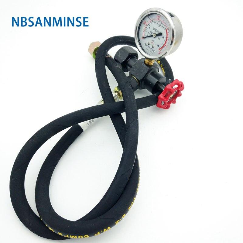 Válvula de Nitrogênio Carregamento GCQJ NBSANMINSE 16/25/40, 10 20 31.5MPa Para GXQ Diafragma Acumulador De Carga Ferramentas