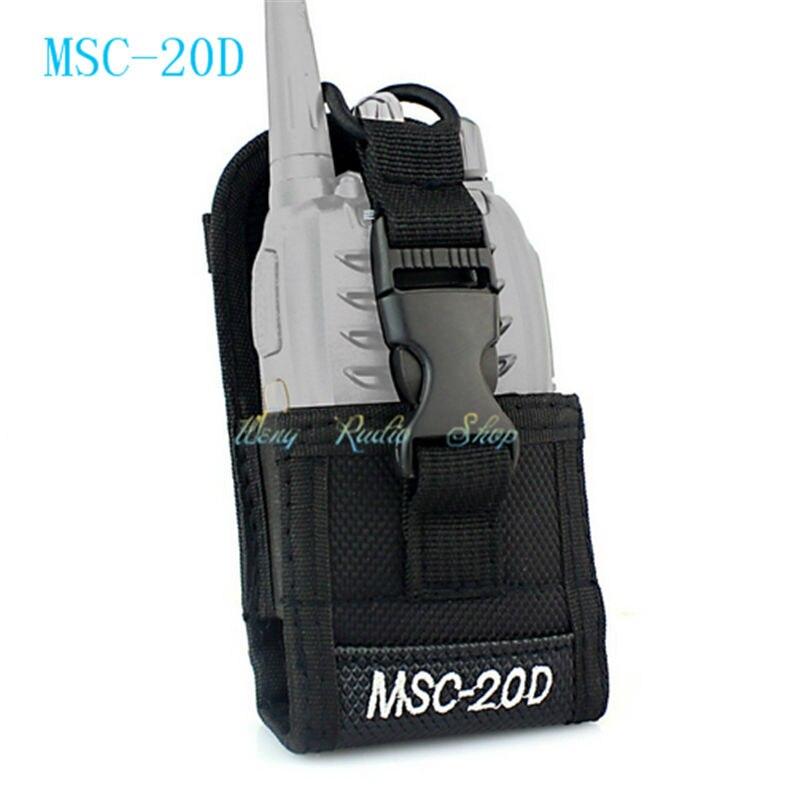 Talkie walkie cas MSC-20D Nylon Carry Case Pour Kenwood BaoFeng UV-5R UV-5RA UV-5RB UV-5RC UV-B5 UV-B6 BF-888S Radio Cas Titulaire