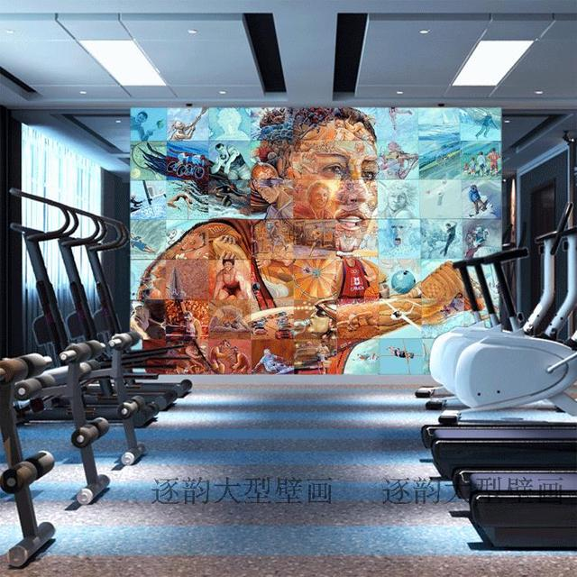 free shipping customized fitness gym wallpaper sports theme muralfree shipping customized fitness gym wallpaper sports theme mural street graffiti figure sketch mural wallpaper