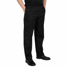 Новая Униформа шеф-повара, брюки для ресторана, брюки для кухни, брюки для шеф-повара, черные штаны с эластичной талией, брюки для еды, Мужская Рабочая одежда