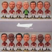 14PCS LOT Soccer ManUtd Player Figurine 2 5 Action Doll 1998 1999 Classic Version