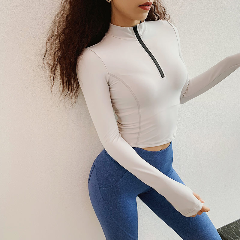 as mulheres de manga longa camisas yoga