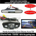 Вид сзади автомобиля резервного копирования парковочная камера CCD HD + 4.3 дюймов автомобиля монитор зеркало TFT LCD для Honda Accord Pilot Civic Odyssey Acura TSX