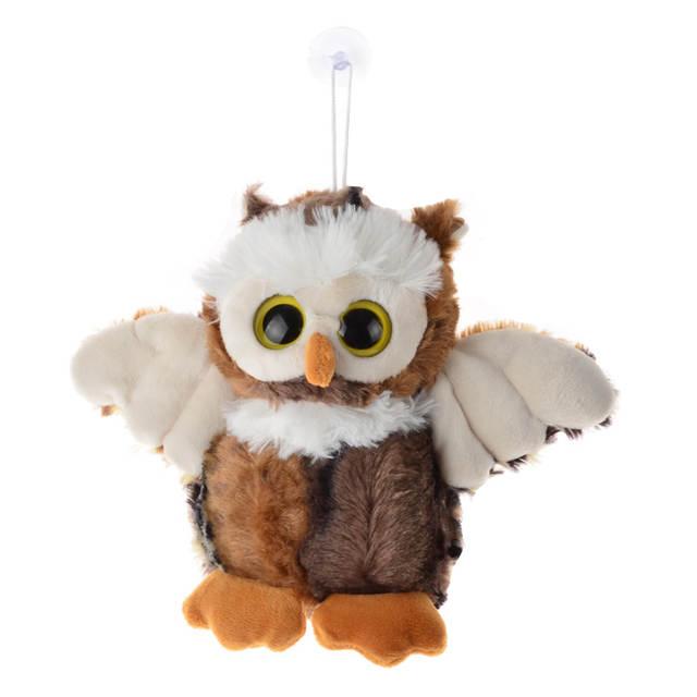 Online Shop Bohs Standing Cute Plush Owl Crystal Eyes Real Life