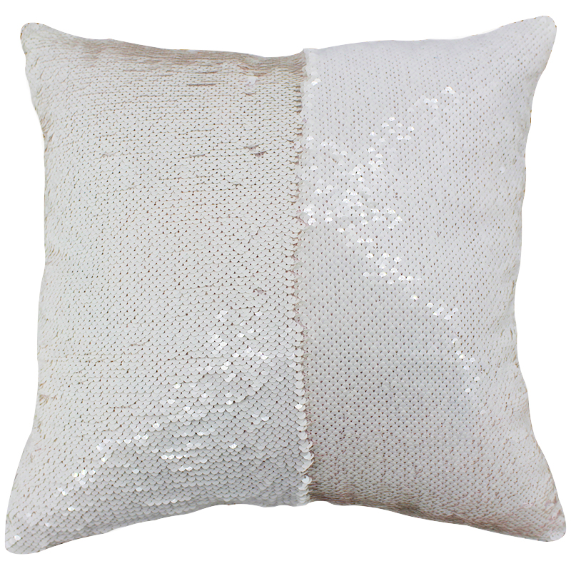 Fashion Two Way Reversible Double Decorative Pillows Sided Sequin Pillow Case Fabric