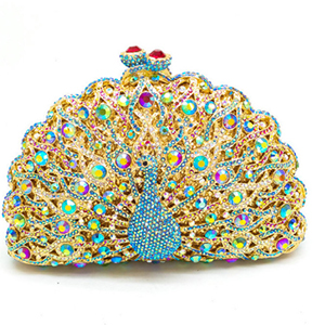Women Peacock shape Evening Clutch Bag Ladies Day Clutch Purse Chain Handbag Bridal Wedding Party Bag Bolsa Mujer gold/pink/blue jacques lemans liverpool 1 1775c