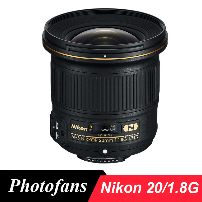 Nikon 20 1,8 lente G AF-S NIKKOR 20mm f/1,8G ED lentes de gran angular para Nikon