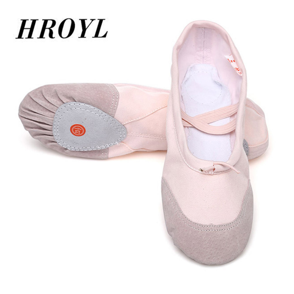 Detail Feedback Questions about Ballet Dance Shoes For Girls Women Pointe  Ballet Shoes Kids Children Soft Sole Yoga Shoes 4Color Canvas Leather EU24  45 ... 98a7dada9765