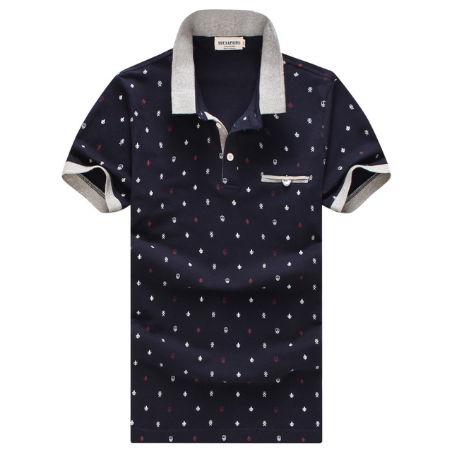 2016 Summer New Men's British Style Polo Shirt Fashion Brand Short Sleeved Cotton Mens Polo Shirt Plus Size Men Clothes