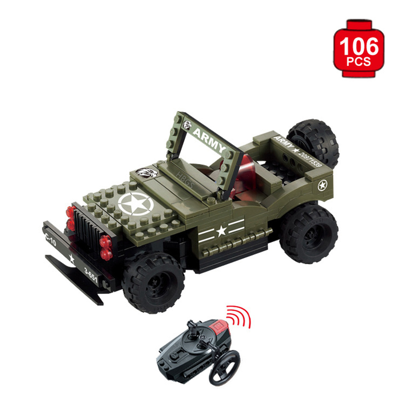 Building Blocks Assembled RC Car Toy radio-controlled cars Children Toys 2 in 1 rc car compatible legoinglys radio technical vehicle green suv control blocks assembled blocks children toys gift