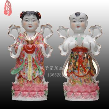 crafts home decoration accessories decor Shipping 10~42 inch [1 meters] wedding gifts Jintongyunv decoration ceramic Buddha shan