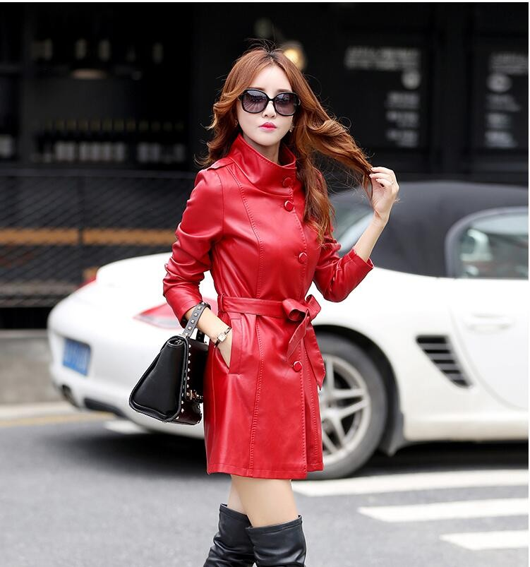 2016 3XL 4XL 5XL Women 's Korean version of artificial   leather   spring and autumn fashion   leather   jackets Ms. motorcycle jacket