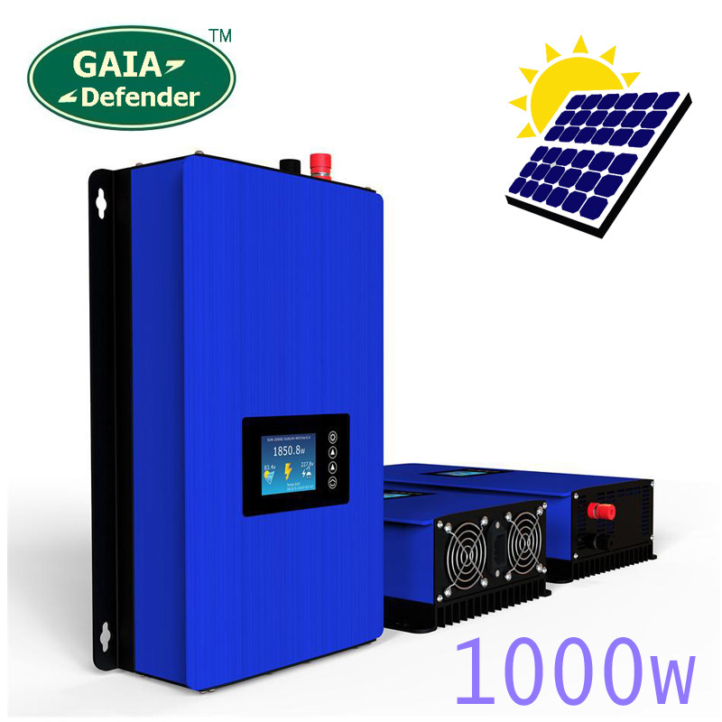 1000 w sul Legame di Griglia Inverter Solare Pannelli Batteria di Alimentazione A Casa PV Sistema di Sun-1000G2 DC 22-65 v 45 -90 v AC 90 v-130 v 190 v-260 v WI-FI