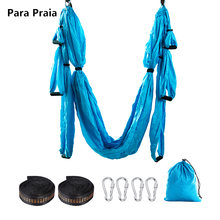 Hot Sale Yoga Hammock Anti Gravity Ultralight Parachute Nylon Aerial Yoga Swing hammock Unmissable Fitness Equipment Home Gym(China)