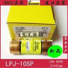 цена на [SA]United States BUSSMANN fuse LOW-PEAK fuse LPJ-10SP 10A 600V 21 * 57mm--5PCS/LOT