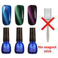 Candy Lover 8ml Soak Off Magnetic Nail Gel Lacquer  Perfect 3D Cat Eyes Magnetic LED UV Gel Polish Long-Lasting Varnish 3pcs/set