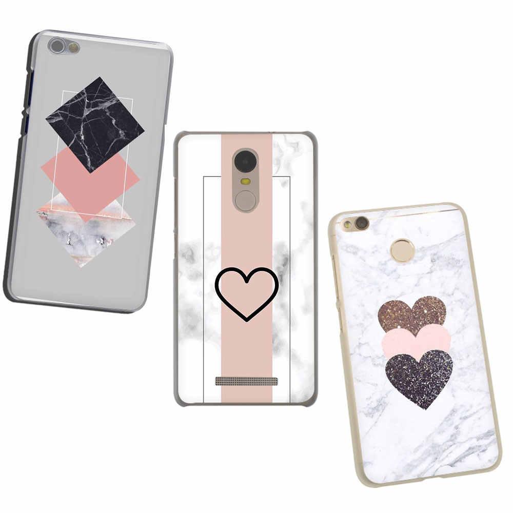 Luxo mármore ouro rosa mármore caso de telefone duro para xiaomi redmi k20 7a 8a 6a 4a nota 8 7 6 5 4 plus pro 4x