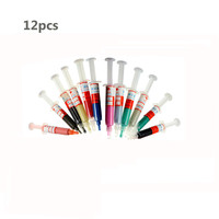 12pcs Diamond Abrasive Needle Tube Grinding Polishing Paste Lapping Compound Syringes