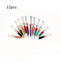 12pcs Diamond Abrasive Needle Tube Grinding Polishing Paste Lapping Compound Syringes