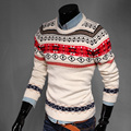 2016 Christmas Snowflake Thicken Winter keep Warm Sweaters for Men O neck Print men pullovers Slim Jacquard knitwear MQ465