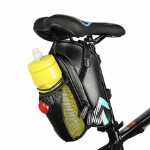Фотография ROSWHEEL Bicycle Bag Rainproof Kettle Bottle Bag Cycling Mountain Bike Back Seat Tail Pouch With Tail Light Cycling Accessory