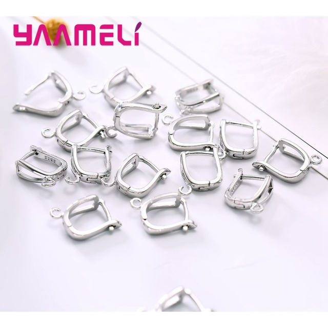 YAAMEL New Fashion Factory Price High Quality Real 925 Sterling Silver Hoop Earrings Accessories For Women Jewelry Present