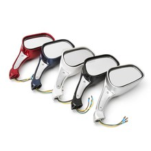 8mm Motorcycle Scooter Mopeds Rear View Mirror Light Fit For Gy6 50cc 120cc 250cc With Light
