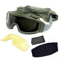 Militare Dell'esercito di Airsoft Occhiali Uomini Occhiali Tattici di Caccia Cs Gioco di Guerra di Protezione Occhiali Antivento Moto Occhiali da Sole di Sport
