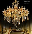 Large Gold Crystal Chandelier Lighting Big Luxurious Cristal Lustres Light Fixture 18 Arms Chandelier Crystal for Hotel MD2117