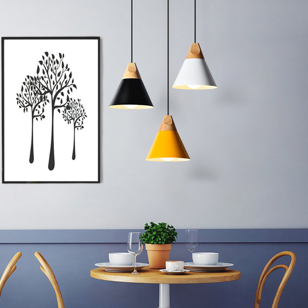 Nordic Modern Combined Bar Pendant Lights Aluminum Wood Hanging Kitchen Restaurant Light Fixtures Luminaire Avize Pendant LampsNordic Modern Combined Bar Pendant Lights Aluminum Wood Hanging Kitchen Restaurant Light Fixtures Luminaire Avize Pendant Lamps