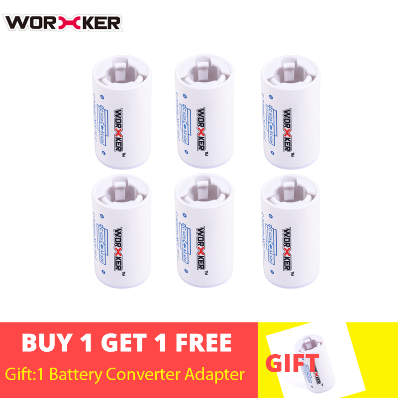 Worker 6PCS Set Modified AA To C Size  OR AA To D Size Spacer Plastic Battery Converter Adapter For Nerf