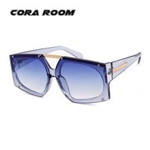 2018 fashion big box woman sunglasses wind mirror brand designer ladies sunglasses personality men's sunglasses