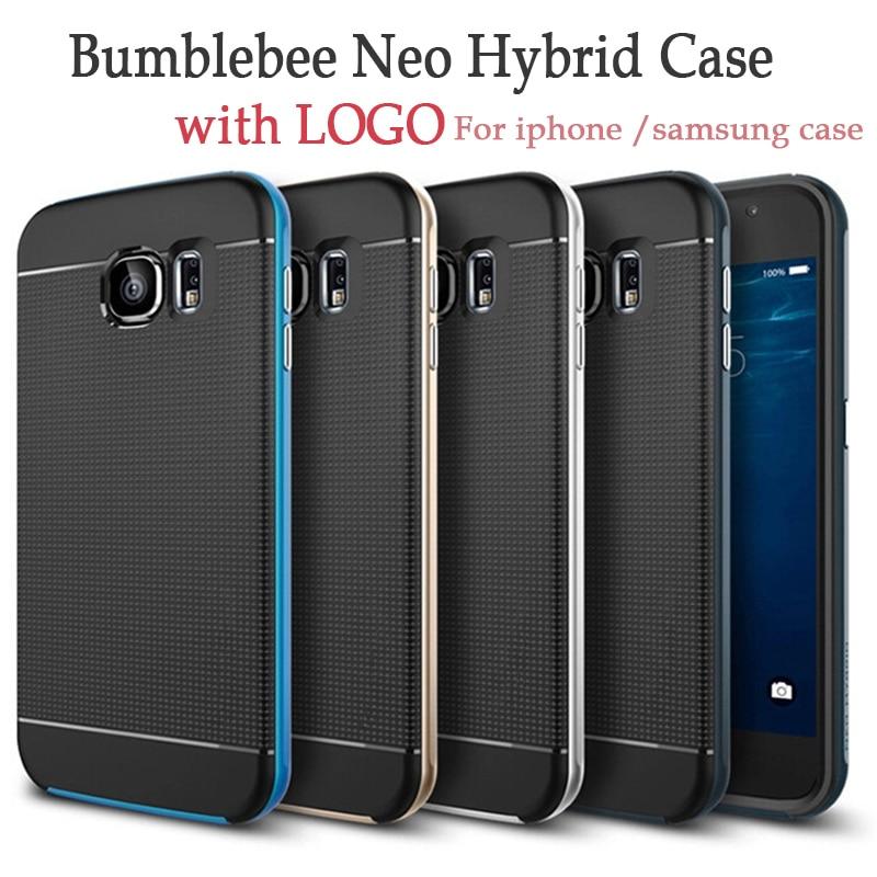 imágenes para Cubierta híbrida del plástico de silicón armor bumblebee delgado hard case para el iphone 7 7 6 6 s plus samsung galaxy s7 s6 edge note 4 10 unids/lote