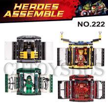 Marvel DC Hall of Armor Batman Iron Man Arrow Flash Building Bricks Block  Figures Minifigures Learning Toy Compatible With Lego