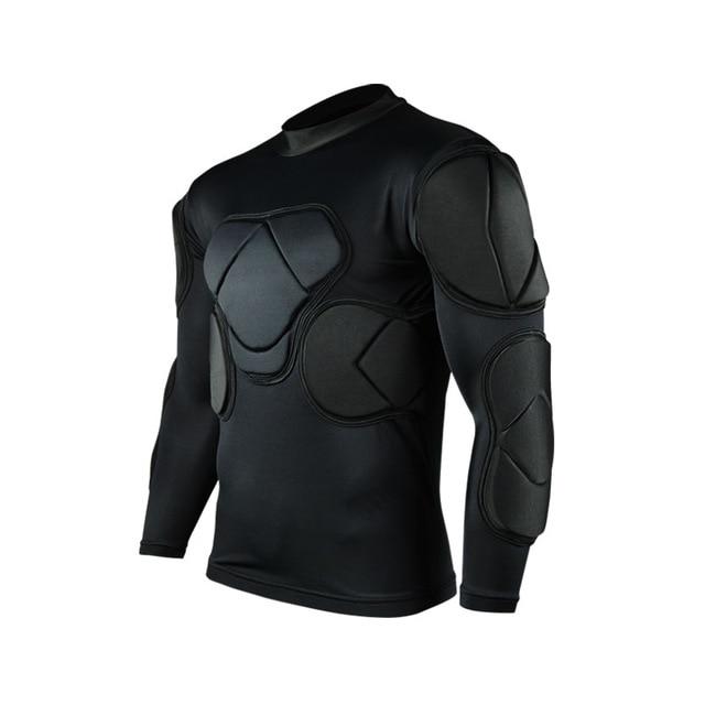 Регби вратарь футбольные майки тренировочные штаны наколенники EVA губка футболка для американского футбола наколенники защита голени сноуборд шлем - Цвет: black jackets