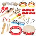 Alta Calidad Niños Percusión Juguetes Set Niños Niños Juguetes Musicales Instrumentos Musicales Band Kit de Ritmo con Bolsa de Transporte