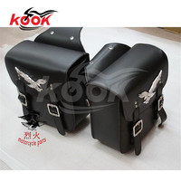 Universal Pro Leather Motorcycle Saddle Bags Luggage Bag Motorcycle Side Bag Left Right Pouch For Harley