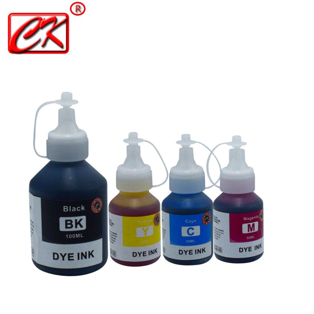 CK 4 colores de tinta Kit de recarga de tinta Compatible para impresora hermano DCP-T300 T310 T500W T510W T700W T710W T910DW MFC-T800W T810W