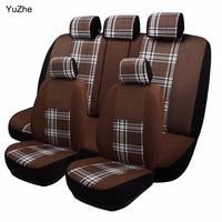 Yuzhe Universal auto tampa de assento Do Carro Para Mitsubishi Lancer Outlander Pajero Zinger Eclipse Verada automóveis acessórios do assento