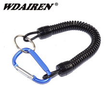 1Pcs Aluminum Alloy Buckle Fishing Tools Retention Rope Safety Rope Plastic Fishing Rod Missed Protective Line rope pesca FA-222