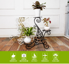 Flower shelf iron multi-storey indoor balcony green radish flower pot frame iron multi-floor landing living room flower rack  цены