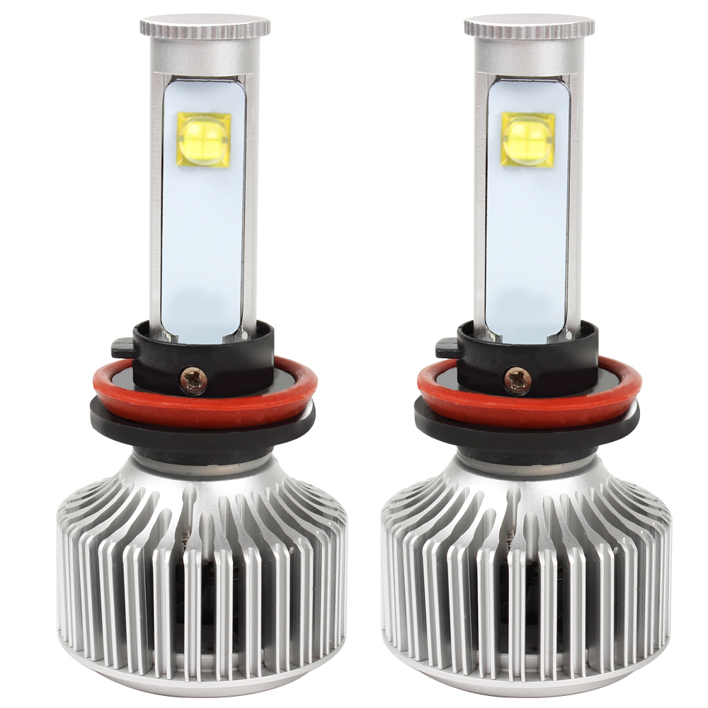 2pcs H11 LED Car Headlight Head Lights Lamps Waterproof Version of X7 Automobiles Headlamp Super Bright Car Styling All-in-one