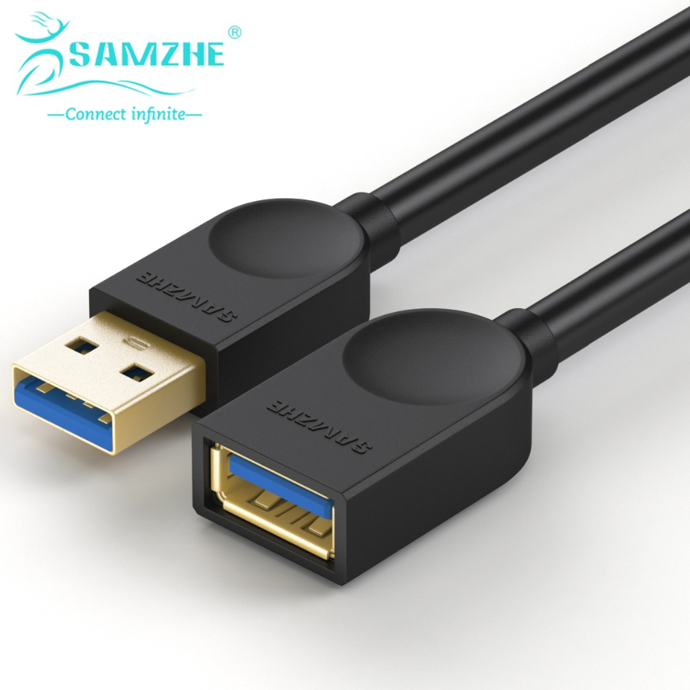 SAMZHE USB3.0 Extension AM/BF Cable 0.5m/1m/1.5m/2m/3m Phone USB Data and Charging Sync Transmission Cable