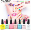 HOT! CANNI Colorful Gel Polish Soak Off UV LED Glitter Nail Art Tips Manicure 7.3ml Color 167-182