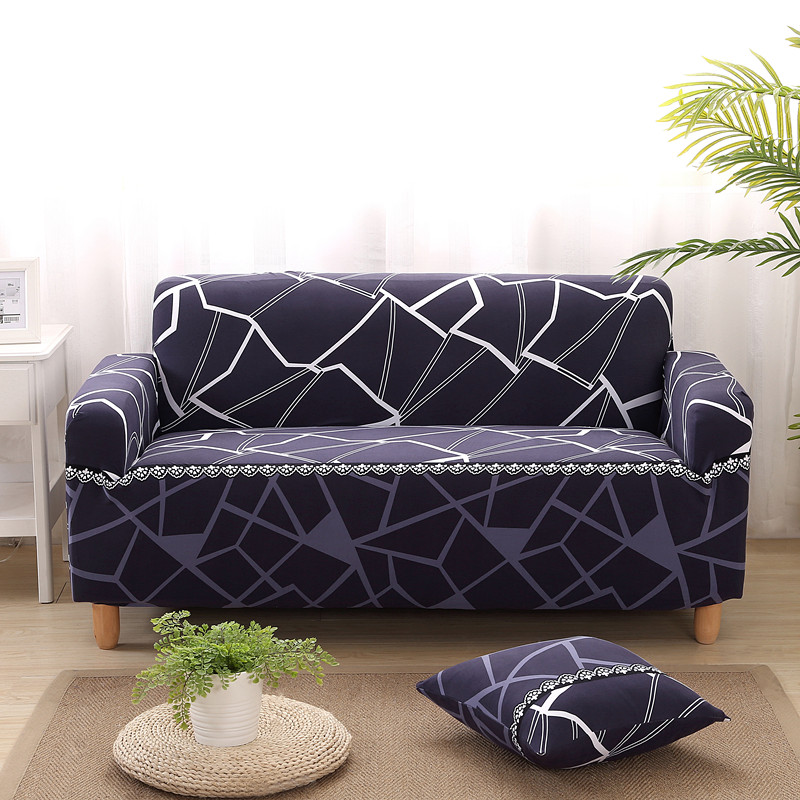 Sofa Cover Water Cube Protector Elastic Slipcover Couch Cover For Sofa Covers Stretch Spandex Polyester For Living Room Corner