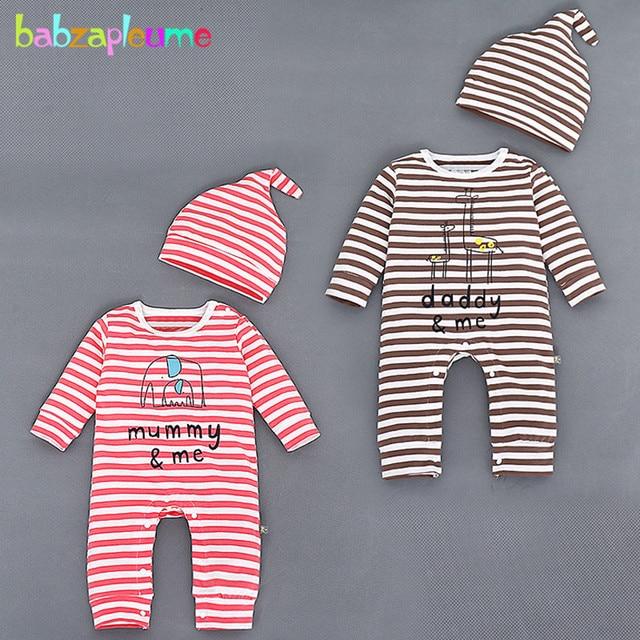 080ebd075d51 2PCS 0-18M Spring Autumn Baby Wear Newborn Boys Girls Clothes Cotton Stripe
