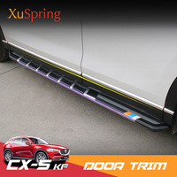 For Mazda CX 5 CX5 2017 2018 2019 KF Stainless Steel Door Body Side Protectiove Trim Cover Strips Decoration Garnish Car styling