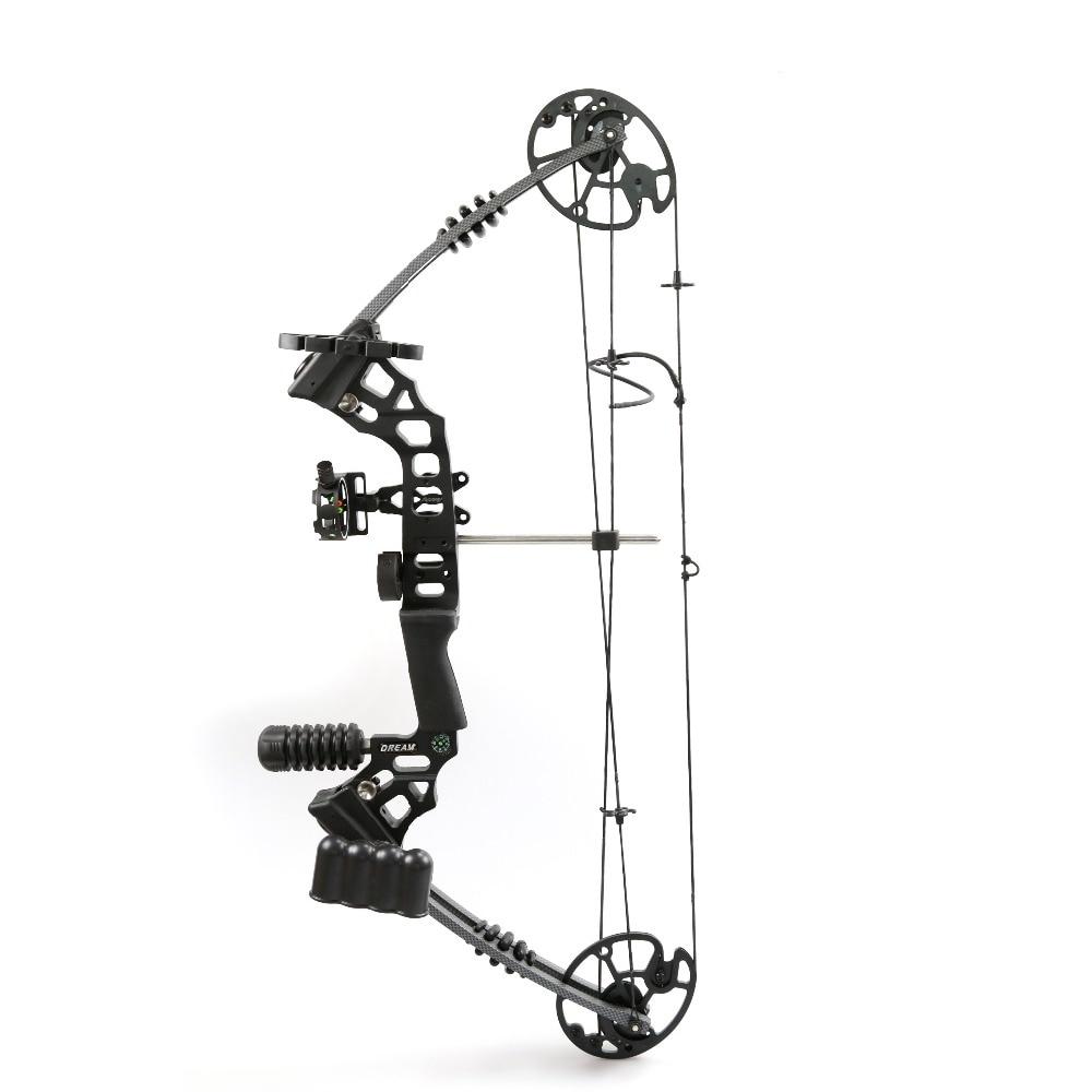 Влево/Вправо рукой стрелок Алюминий сплав Pro блочного Лука с 20-70 фунтов рисовать Вес для взрослого человека стрельба из лука охота